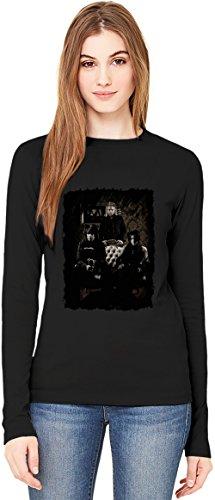 Sixx:A.M. Group T-Shirt da Donna a Maniche Lunghe Long-Sleeve T-shirt For Women| 100% Premium Cotton Ultimate Comfort Small