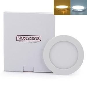 NexScene 2835 SMD Ultra Thin Anti-fogging Round Ceiling Panel LED Recessed Lighting Trim Downlight from GK Lighting