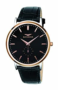 Sandoz Portobello Collection - Reloj de caballero piel negro