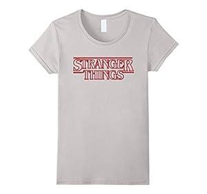 Women's Stranger T-Shirts Things XL Silver