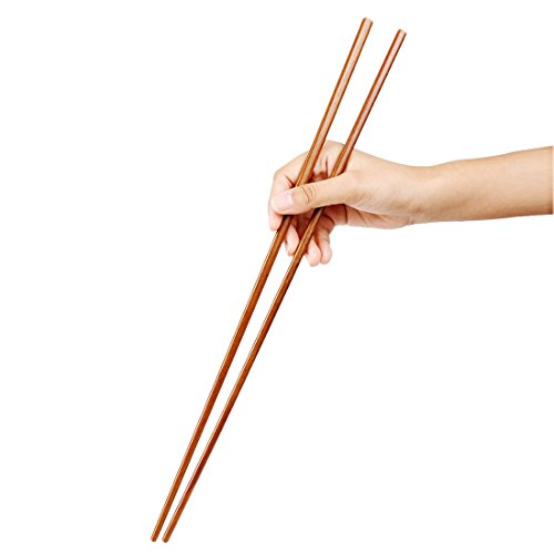 Uxcell Bamboo Noodles Cooking Chopsticks 42cm Length 2 Pairs Brown (Chopsticks Cooking compare prices)