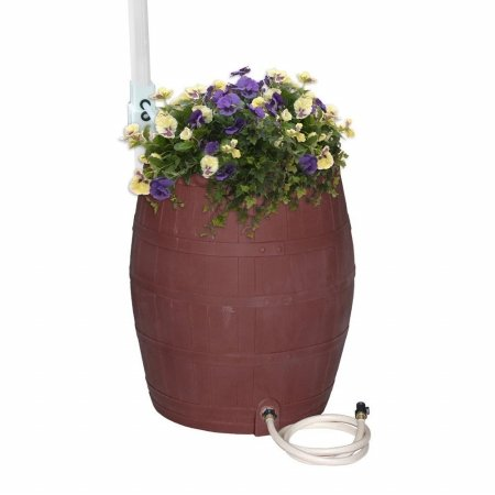 Emsco-Group-2242-1-Whiskey-Barrel-Flat-Sided-Rainwater-Urn-Brown