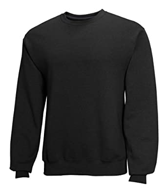Fruit of the Loom Best Collection&#8482 Men's Fleece Crew Small BLACK/CHARCOAL HEATHER