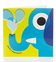 Bright Elephant Birthday Card for Kids
