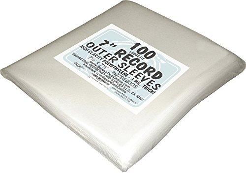 100-7-Record-Outer-Sleeves-Polyethylene-Slightly-Oversized-7-12-x-7-12