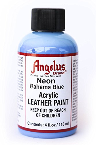 Angelus Neon Acrylic Leather Paint-4oz.- Bahama Blue Neon (Angelus Leather Paint Neon Colors compare prices)