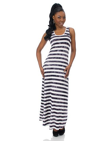 Cheap Maxi Dress on Cheap Apple Bottoms Stripe Maxi Dress Black S   Cheap Slit Maxi Dress