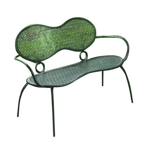 Alfresco Home 29-8190 Margarita Garden Bench, Glossy Black