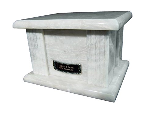 Star Legacy's Classic White Large Marble Adult Funeral Cremation Urn for Human Ashes (Urns Marble compare prices)