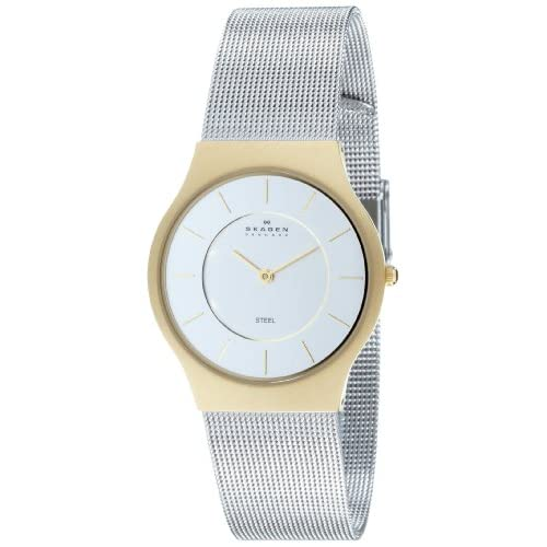 Skagen-Mens-Two-Tone-Stainless-Steel-Mesh-Watch-233LGS