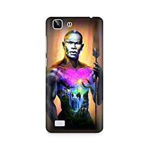 Mobicture Man Illustrated Premium Designer Mobile Back Case Cover For Vivo X5
