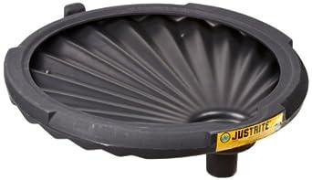 Justrite 28680 Black Polyethylene Spill Control Funnel