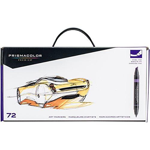 Prismacolor premier marker set 72 pkg assorted tips assorted colors