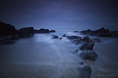 james-ingham-design-pics-long-exposure-of-rocks-on-the-beach-at-nightnewquay-cornwall-england-photo-