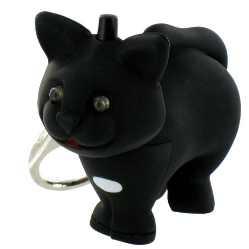 Cat LED Keychain Flashlight w/ Meow Sound