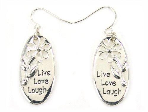 5030008a Christian Scripture Live Laugh Love Earrings