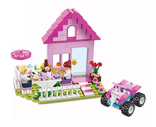 Girls Dream Birthday Party Friends Building Blocks 211pc Pink set Includes Action Figure Compatible to Lego Parts – Great Gift for Children