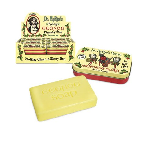 EGGNOG BAR SOAP IN NICE HOLIDAY TIN