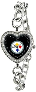 NFL Ladies FH-PIT Heart Collection Pittsburgh Steelers Watch by Game Time