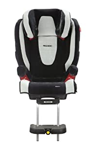 Recaro 614900010 - Reposapiés para Monza Nova Seatfix (Grupo 2/3, color negro-metal) por Recaro