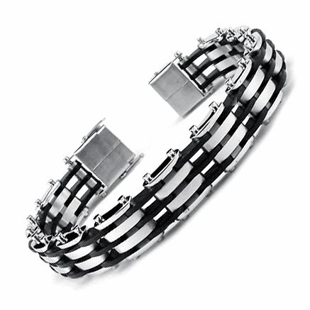 Stainless Steel Link Magnetic Bracelet 8.5