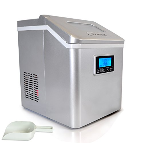 Find Discount NutriChef PICEM70 Electric Countertop Digital Ice Maker, White