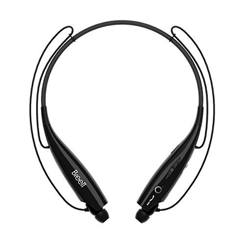 Breett Bluetooth Headset, Wireless Sport Neckband Bluetooth Earphone, Vibration Neckband Style Headset(Black)