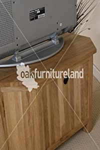 Cheapest  Cairo Natural Solid Oak TV Corner Cabinet
