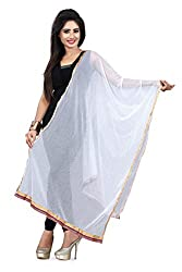 Jiya Prerents Stylish and Versatile Lycra Women's Dupatta(White)
