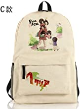 Axis Powers American German Japan Whole Role Anime Cosplay Backpack Bag b2 C