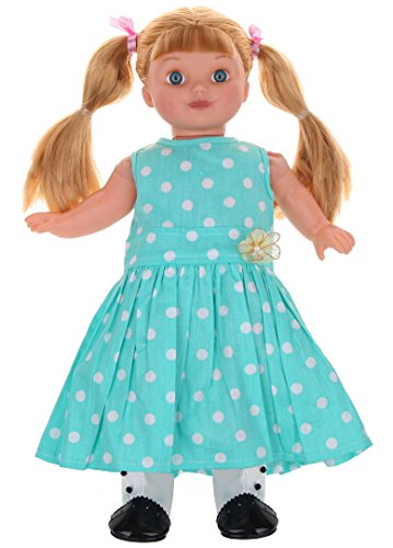 "Polka Dots Dress with White&Black Leatheroid Boots Fits 18"" American Girl Doll Clothes"