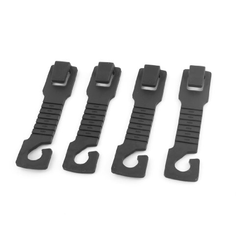 Review 4pcs Plastic Interior Seat Back Shopping Bag Hanger Hook Black for Car