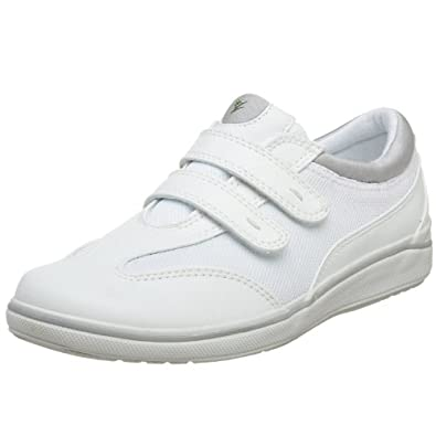 "Women's Grasshoppers ""Stretch Plus Strap"" Sneakers - White (7.5W, White)"