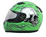 Daytona Helmets Shadow Green Skulls Full Face Helmet