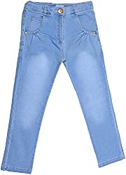 Little Kangaroos Baby Girls' Relaxed Jeans (HF1, Blue)
