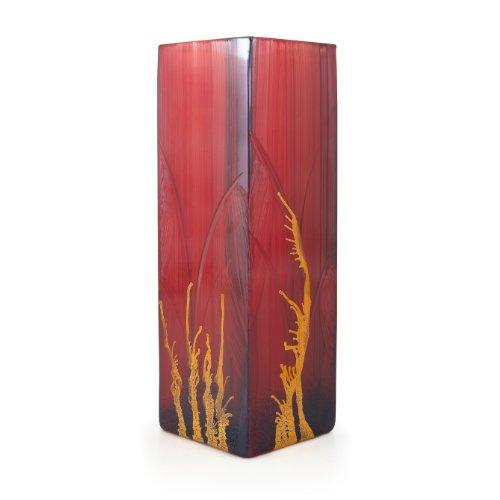 """Angela neue Wiener Werkstaette - Vaso a 4 spigoli, decorazioni in oro, dipinto a mano, modello \Bordeaux\"""""""
