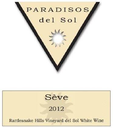 "2012 Paradisos Del Sol ""Séve"" Rattlesnake Hills Estate Chenin Blanc 750 Ml"