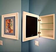 The Regular White Concealed Cabinet — a Recessed Mirrorless Medicine Cabinet with a Picture Frame…