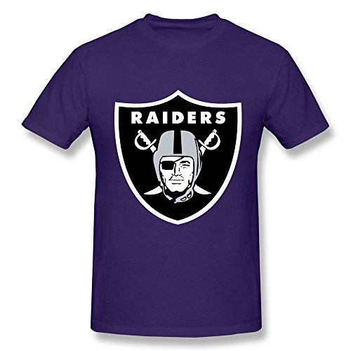 ZEKO Men's T-shirts Oakland Raiders Logo Size XS Purple (Man Can Microwave compare prices)