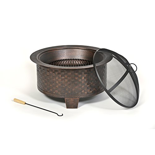 Cobraco-Woven-Base-Cast-Iron-Fire-Pit-FBCIWOVEN-BZ