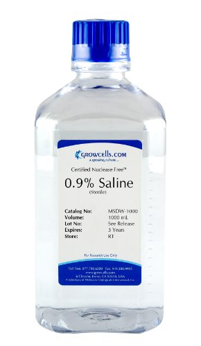Growcells MSDW-1000-12 Sterile Saline 0.9% NaCl Solution (Pack of 12) (Sodium Chloride Water compare prices)