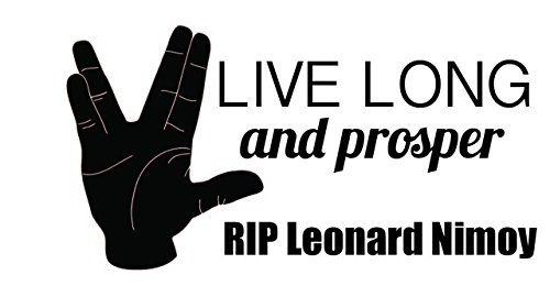 "RIP Leonard Nimoy - Car Memorial Decal - Live Long and Prosper Spock - 10""x5"""