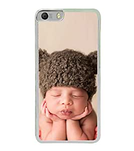 Cute Kid with Brown Cap 2D Hard Polycarbonate Designer Back Case Cover for Micromax Canvas Knight 2 E471