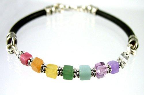 Damali 12SS – Chakra Spiritually Balancing Healing Gemstone Bracelets – MEDIUM 7.5