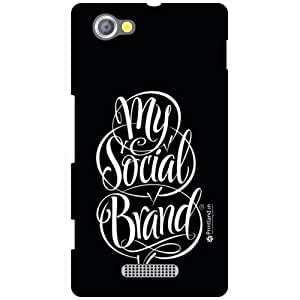 Sony Xperia M Back Cover - Social Brand Designer Cases