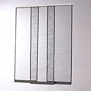 moustiquaire rideau bandes verticales h230 x l130 jardin. Black Bedroom Furniture Sets. Home Design Ideas