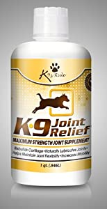 K9 Joint Relief - Premium Quality Glucosamine, Chondroitin Plus MSM for Dogs - 32 oz.