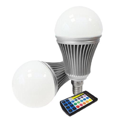 Miniwatts E14 6W Rgb Colour Changing Led Globe Light Bulb With Memory Capacity