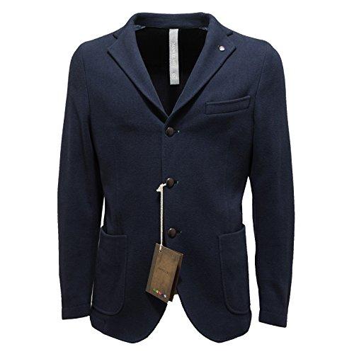 3032M giacca uomo blu MANUEL RITZ cotone giacche jackets coats men [50]