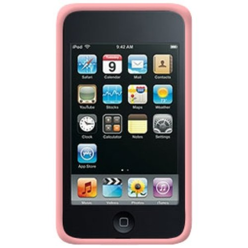 Amzer 85588 Silicone Skin Jelly Case - Baby Pink for iPod Touch 3rd Gen, iPod Touch 2G